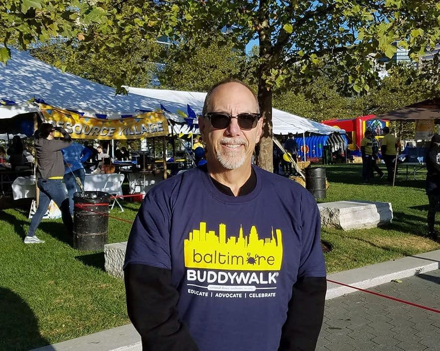 Mike Ziman, Global CI CEO, walking in the Chesapeake Buddy Walk on October 5, 2019.